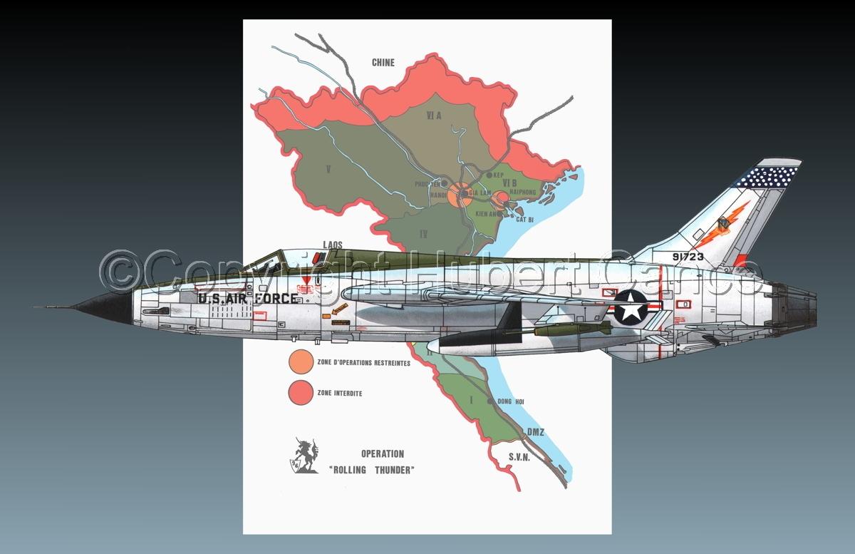 "Republic F-105D ""Thunderchief"" (Map #1.2) (large view)"