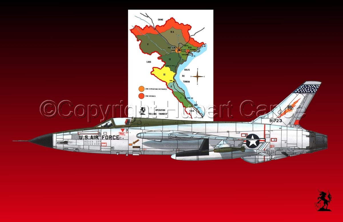"Republic F-105D ""Thunderchief"" (Map #1.4) (large view)"