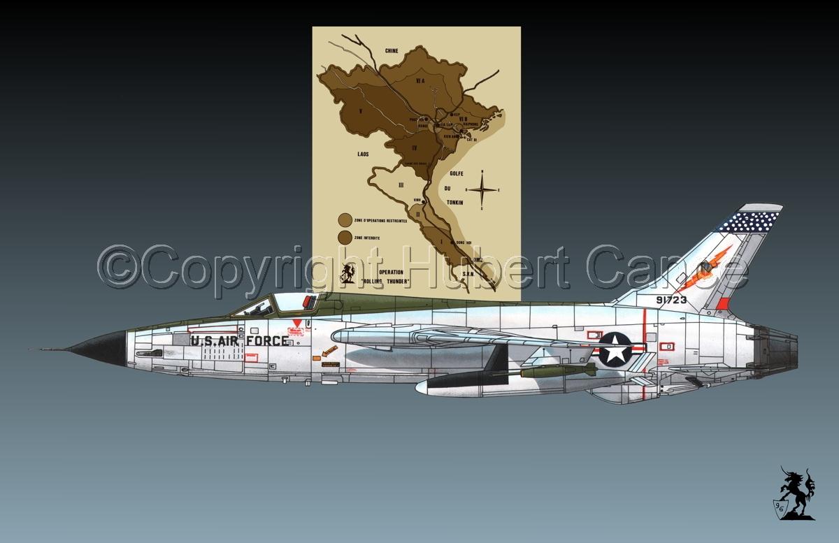 "Republic F-105D ""Thunderchief"" (Map #2.1) (large view)"