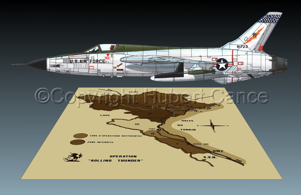 "Republic F-105D ""Thunderchief"" (Map #2.3) (large view)"