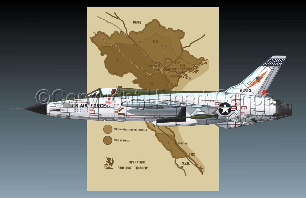 "Republic F-105D ""Thunderchief"" (Map #2.2) (large view)"