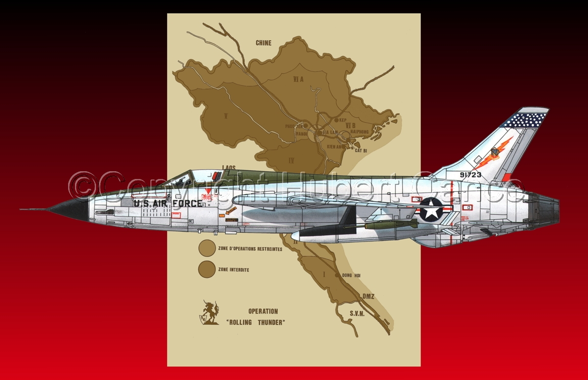 "Republic F-105D ""Thunderchief"" (Map #2.5) (large view)"