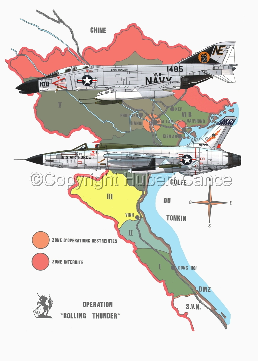 "McDD F-4B ""Phantom II"" and Republic F-105D ""Thunderchief"" (Map #1) (large view)"