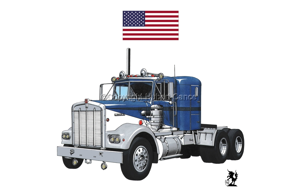 Kenworth W900 Tractor (Flag #1.1) (large view)