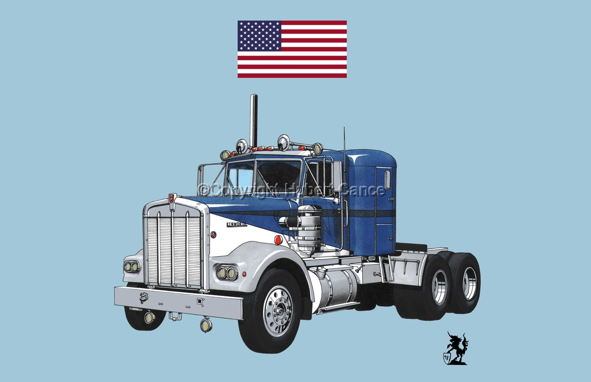 Kenworth W900 Tractor (Flag #1.2) (large view)