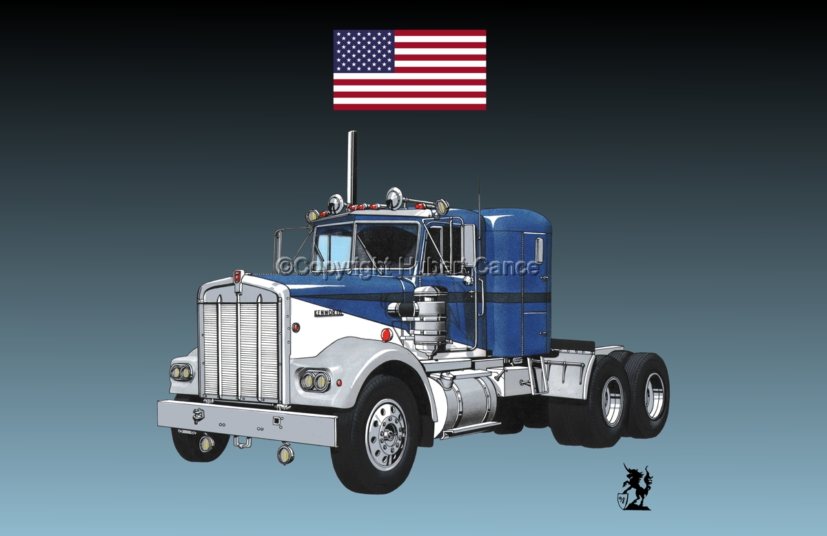 Kenworth W900 Tractor (Flag #1.3) (large view)