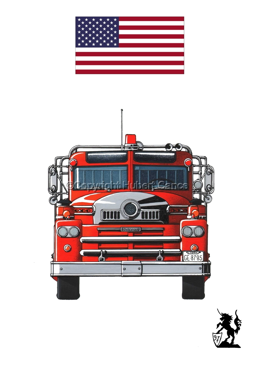 Seagrave 1958 Fire Truck (Flag #1.1) (large view)