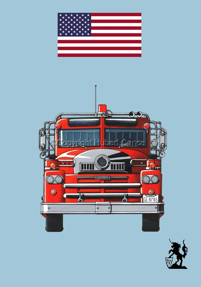 Seagrave 1958 Fire Truck (Flag #1.2) (large view)