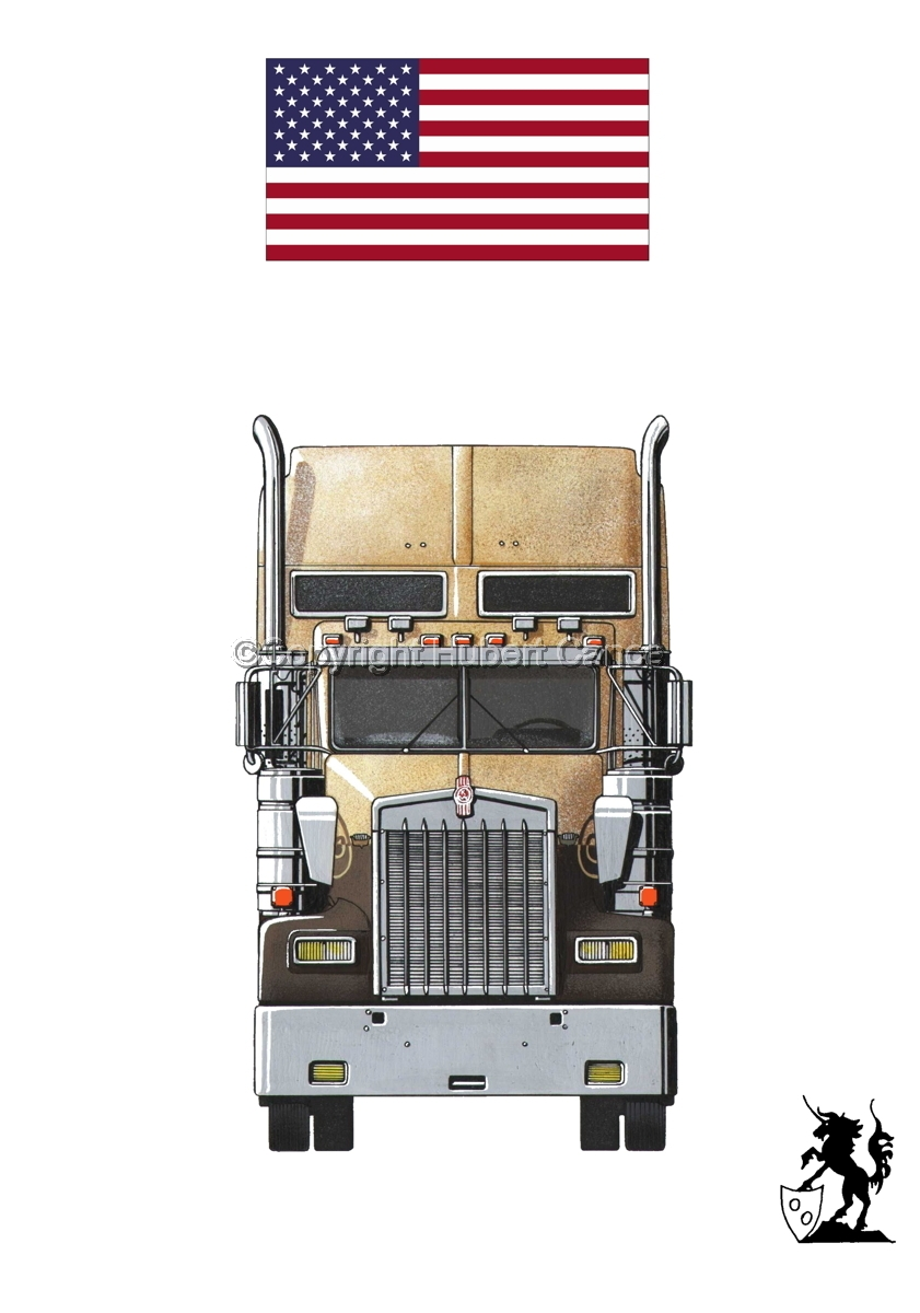 Kenworth W900L (Front View) (Flag #1.1) (large view)