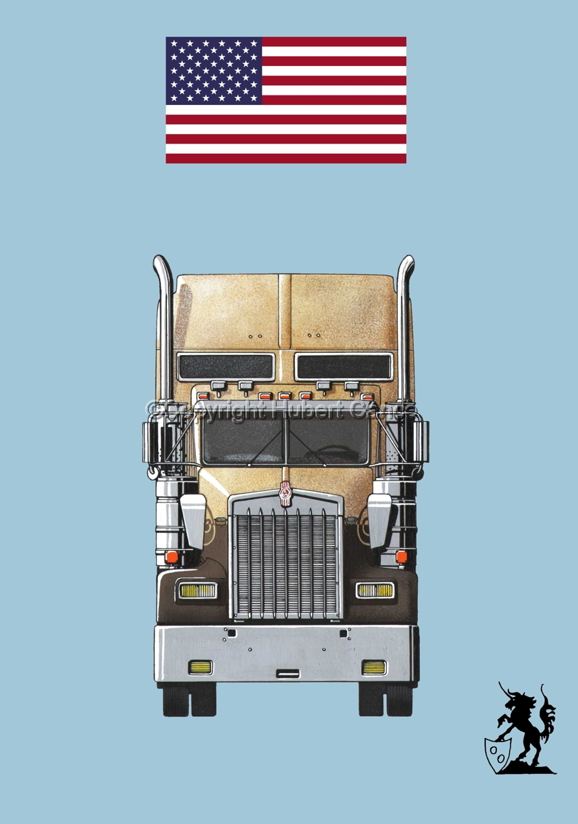 Kenworth W900L (Front View) (Flag #1.2) (large view)