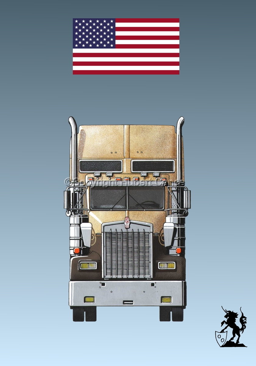 Kenworth W900L (Front View) (Flag #1.3) (large view)