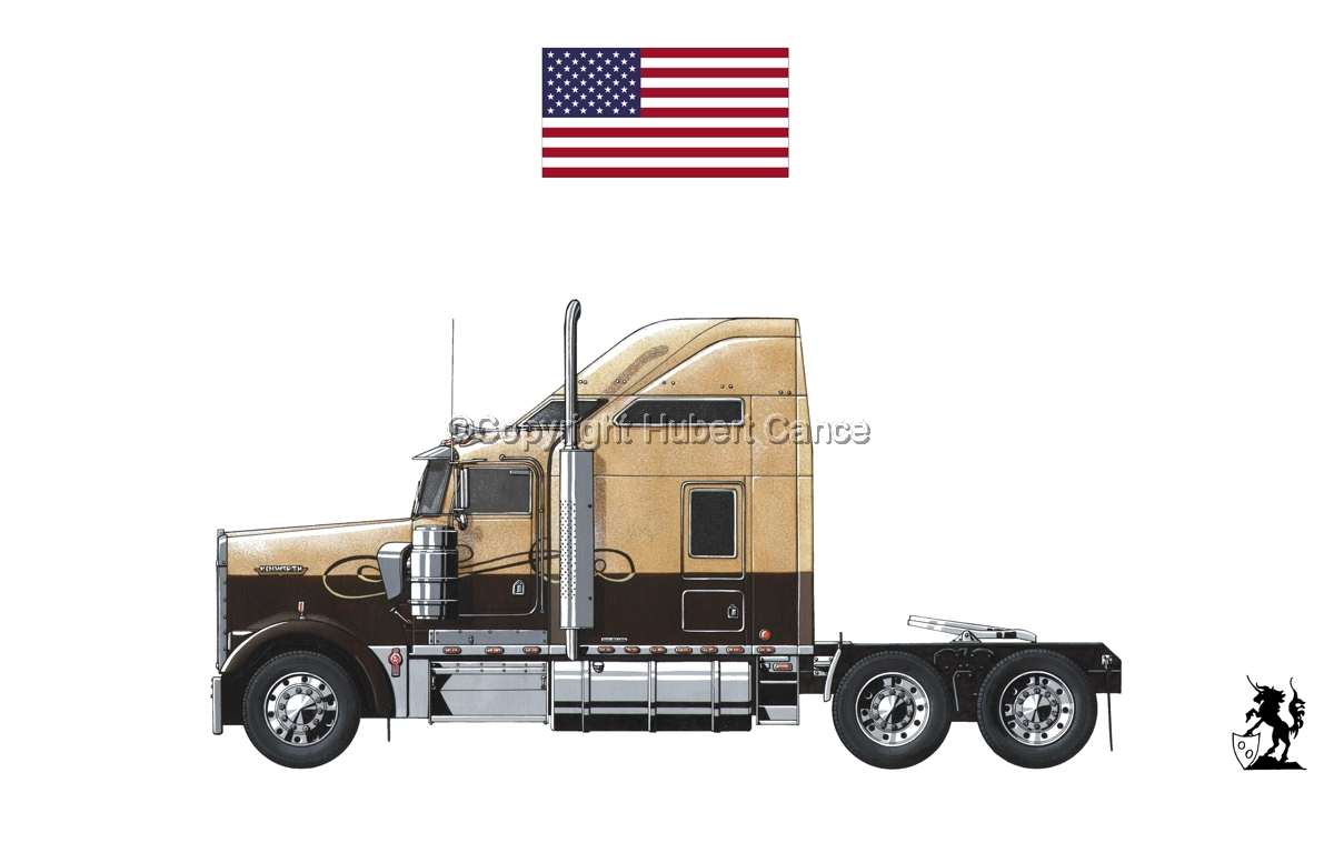 Kenworth W900L (Side View) (Flag #1.1) (large view)