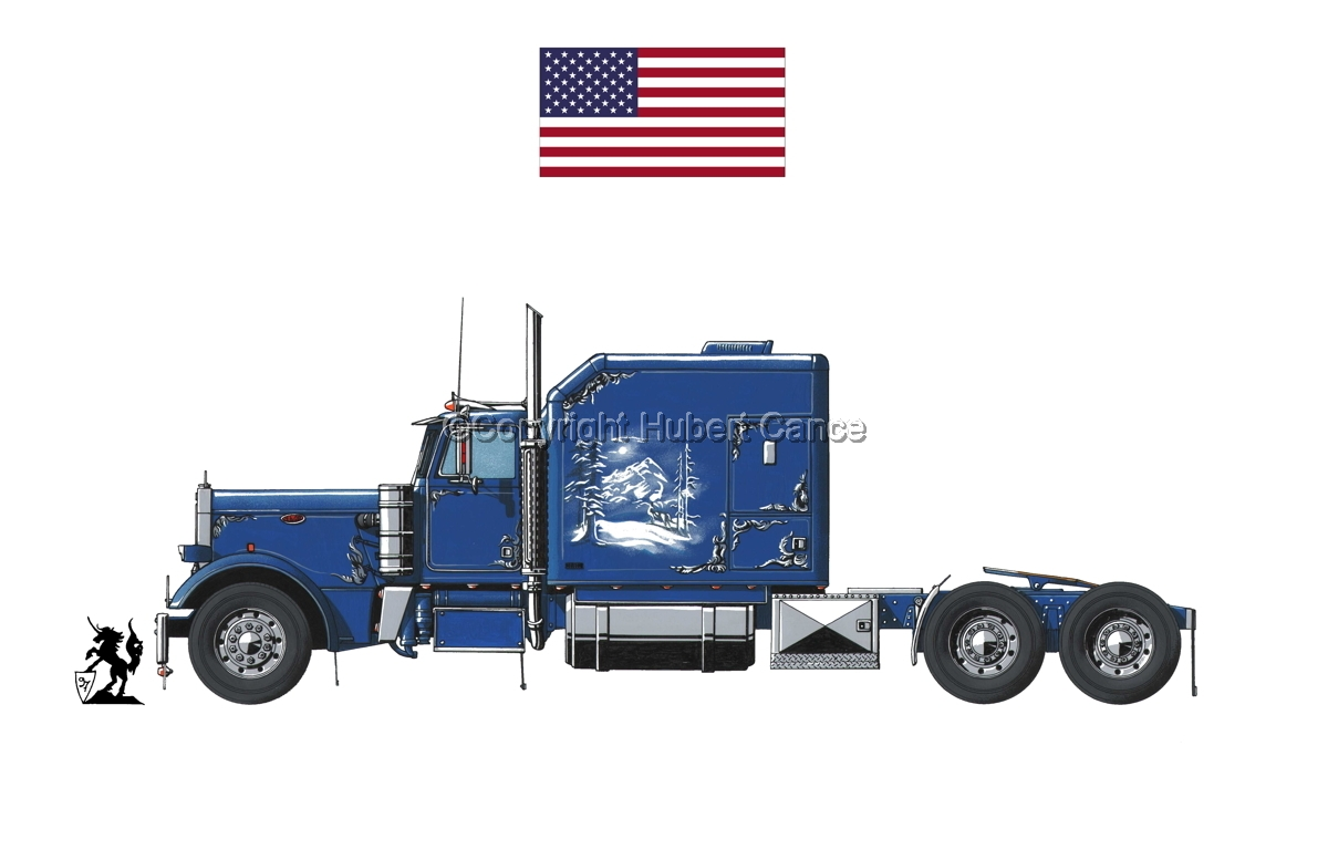 Peterbilt Tractor (Flag #1.1) (large view)