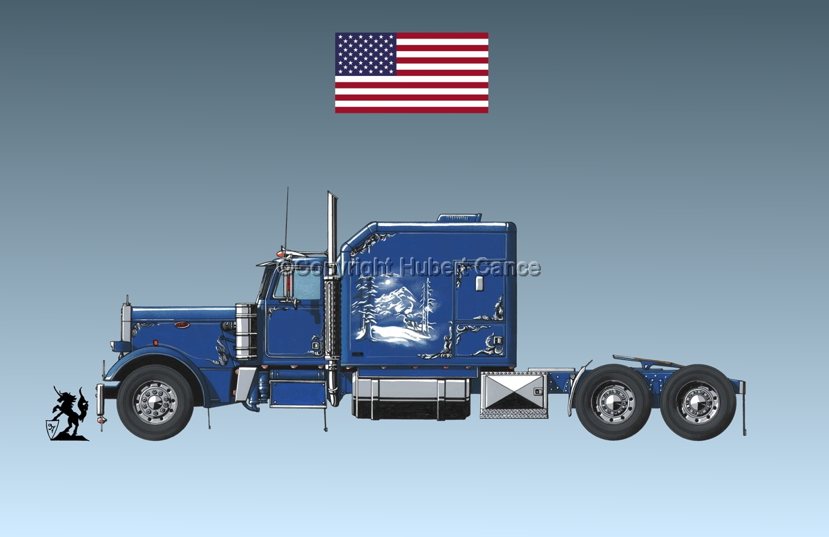 Peterbilt Tractor (Flag #1.3) (large view)
