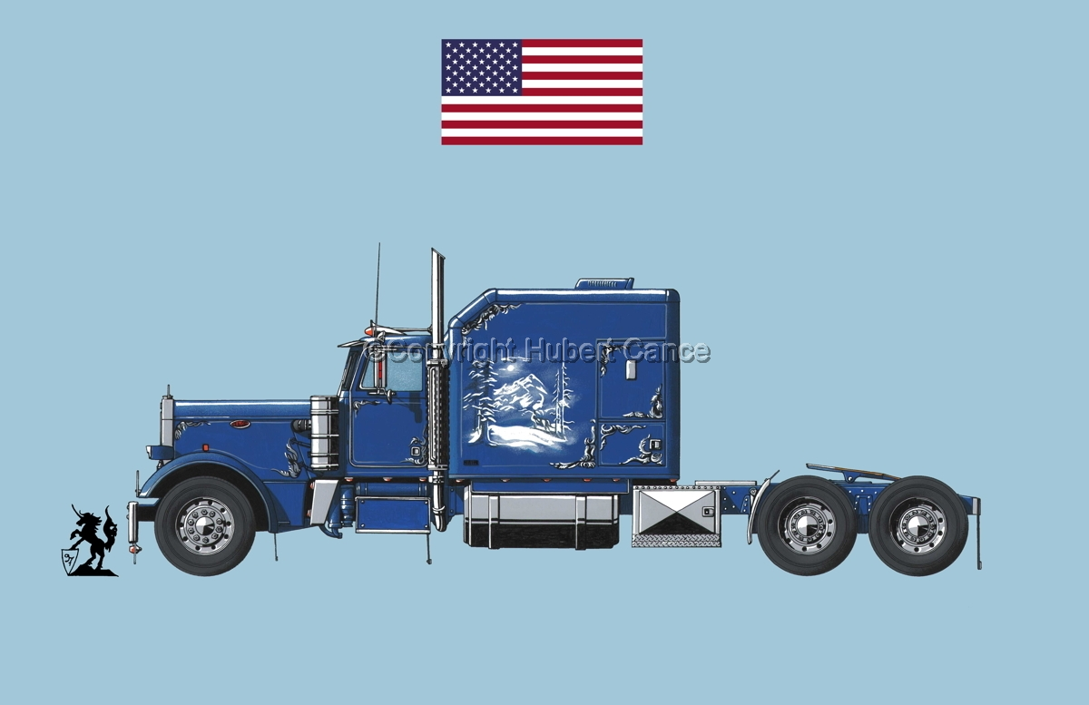 Peterbilt Tractor (Flag #1.2) (large view)