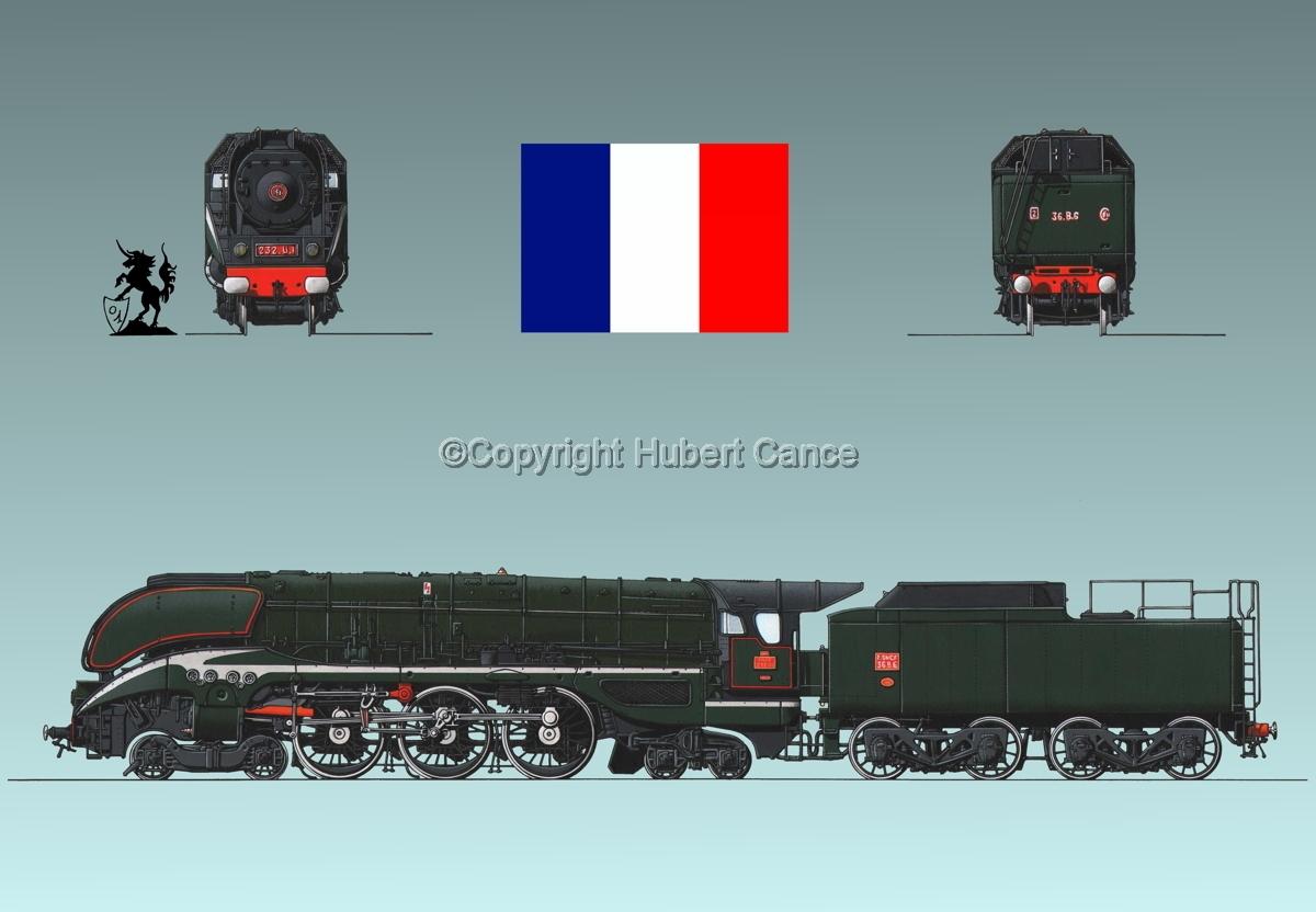 232 U1 SNCF (France) Flag #1.3 (large view)