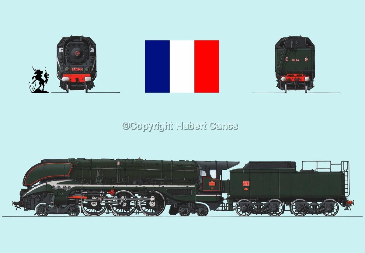 232 U1 SNCF (France) Flag #1.2 (large view)