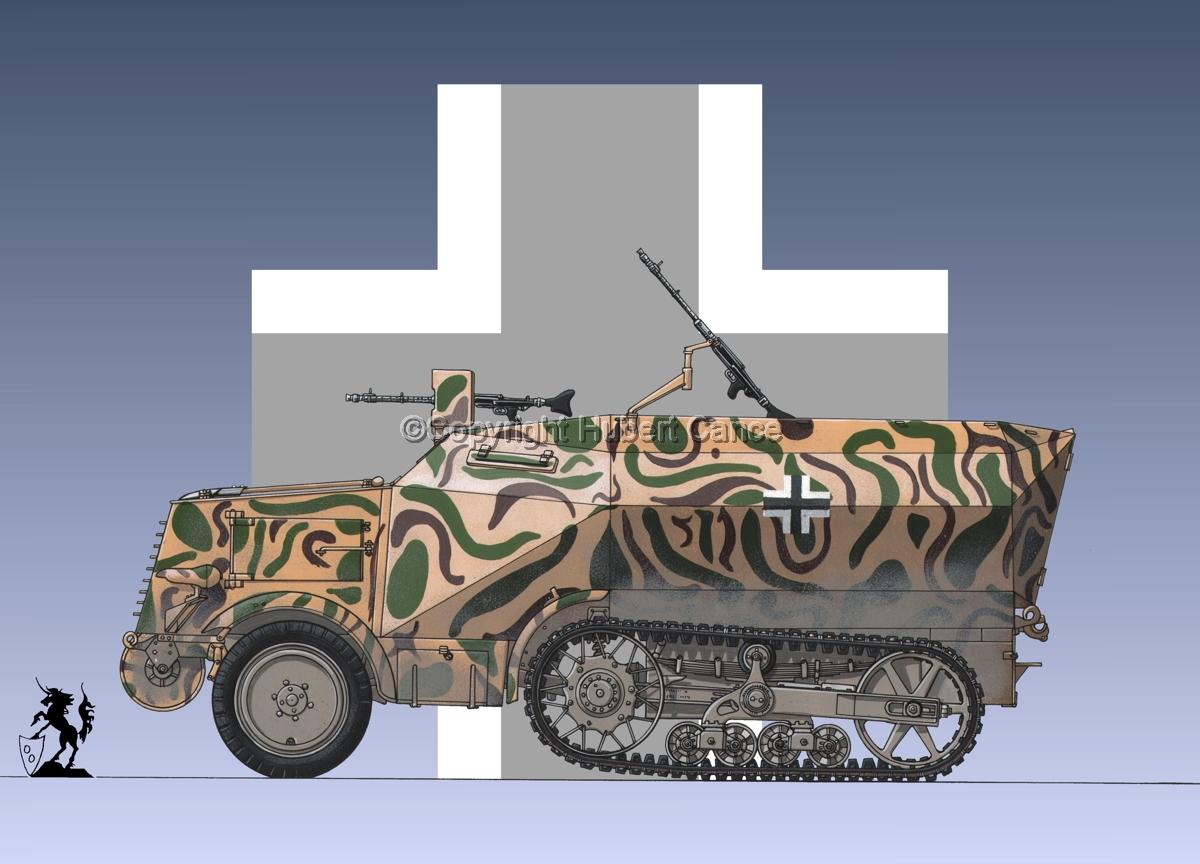 Leichter Schützenpanzerwagen (2.Ausf.) auf Unic P-107 U.304(f) (Roundel #1) (large view)