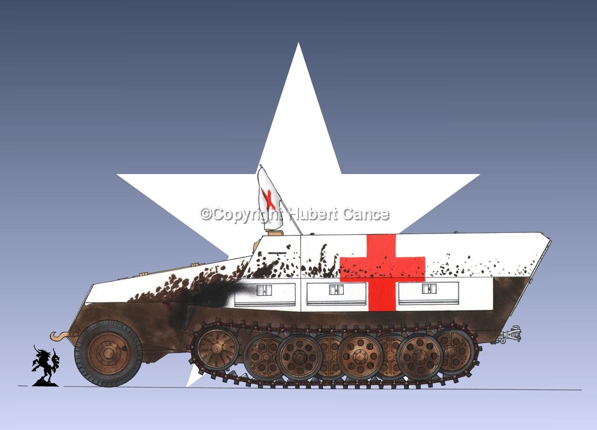 SdKfz.251/8 Ausf.D Mittlerer Krankenpanzerwagen (Roundel  #1) (large view)