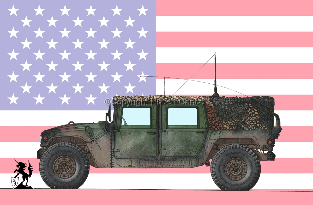 AMC M998 HMMWV Cargo (Flag #1) (large view)