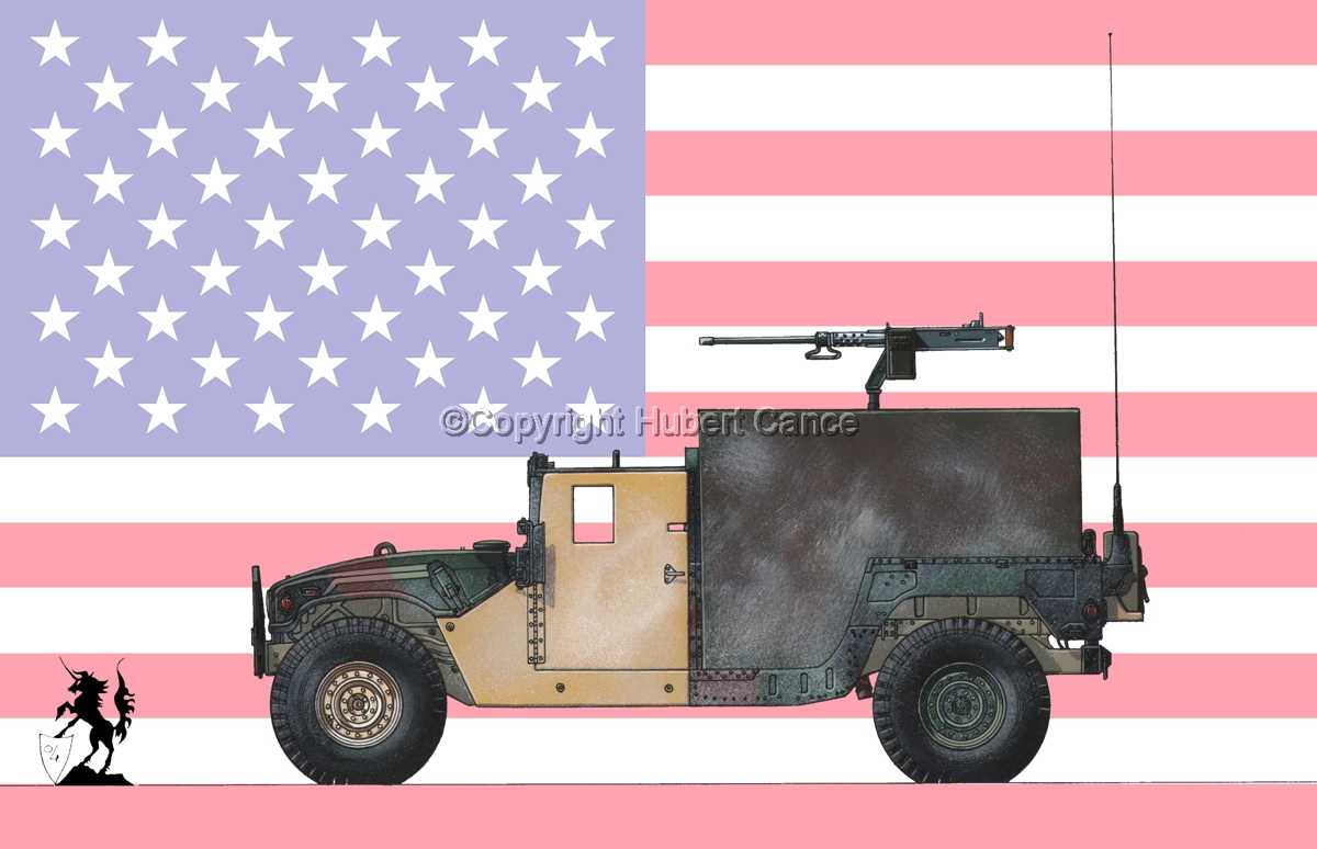 AMC M998 HMMWV Gun-Truck (Flag #1) (large view)