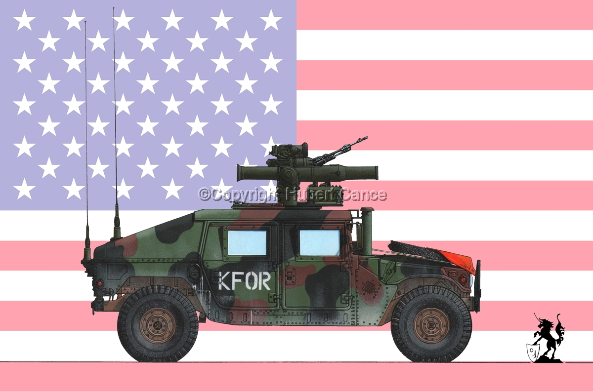AMC M1045 HMMWV Tow Carrier (Flag #1) (large view)