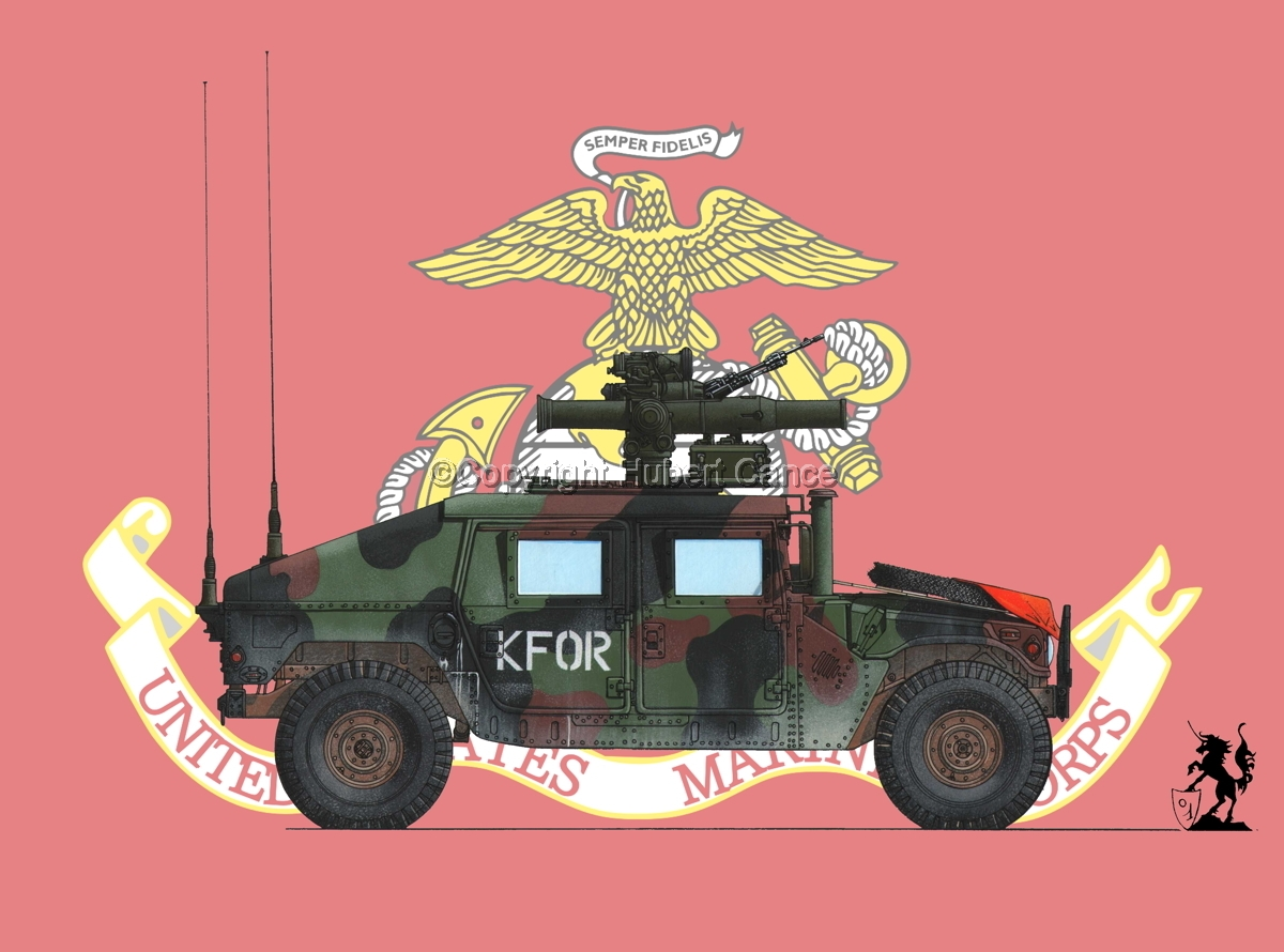 AMC M1045 HMMWV Tow Carrier (Flag #2) (large view)