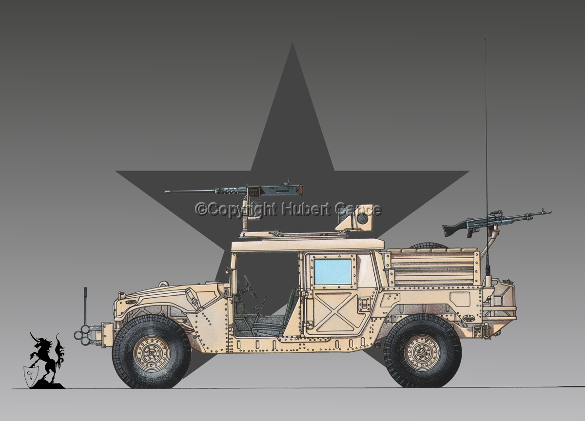 AMC M1025A2 HMMWV GMV-S (Roundel #1) (large view)
