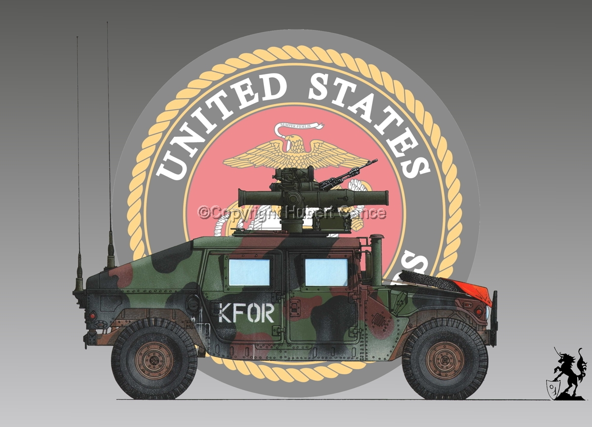 AMC M1045 HMMWV Tow Carrier (Insignia #1) (large view)