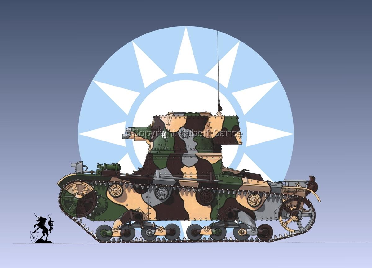Vickers 6 Ton. Tank Model E (Roundel #1) (large view)