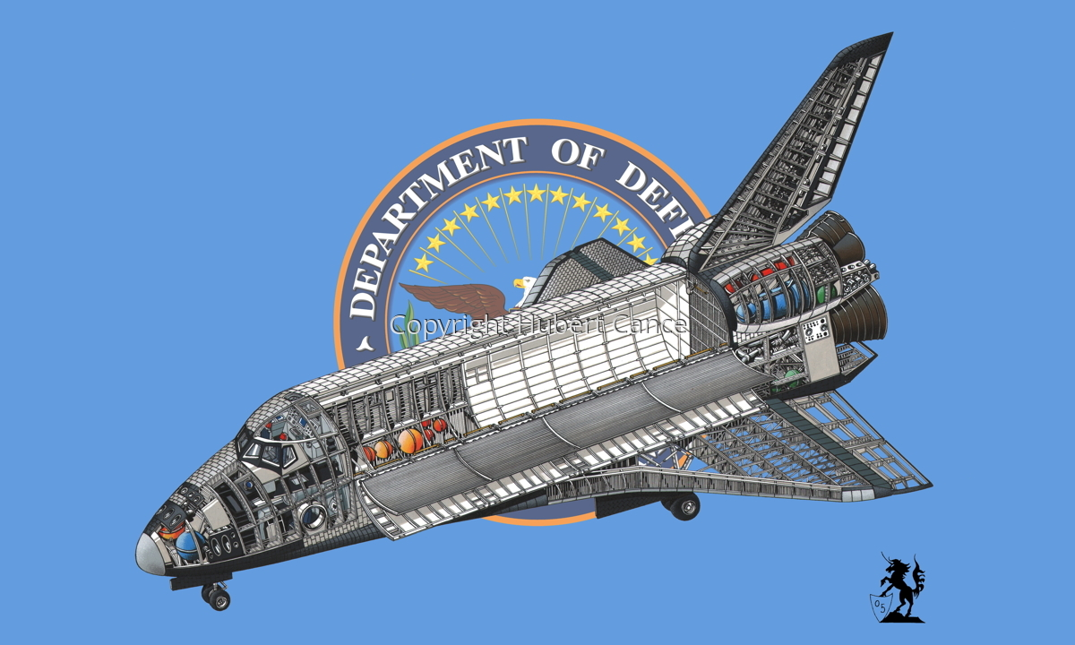 Rockwell Space Shuttle (Flag #3) (large view)