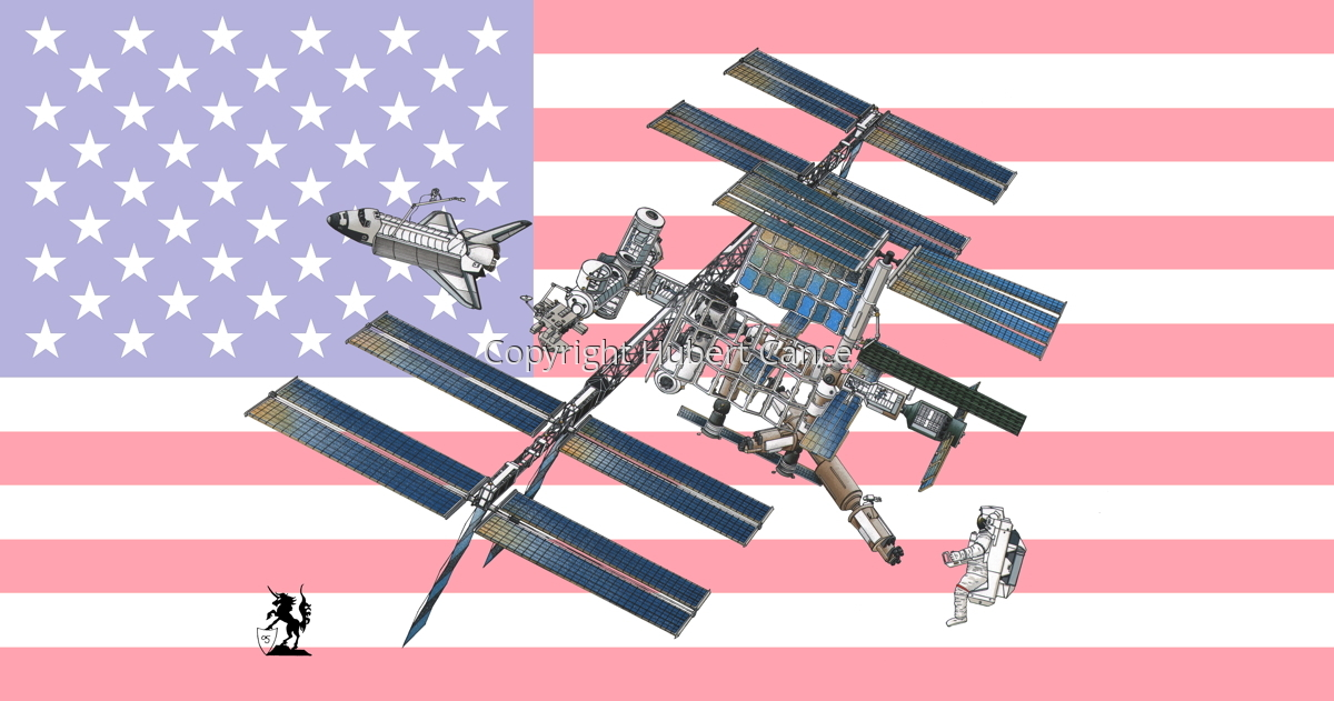 International Space Station (Flag #2) (large view)