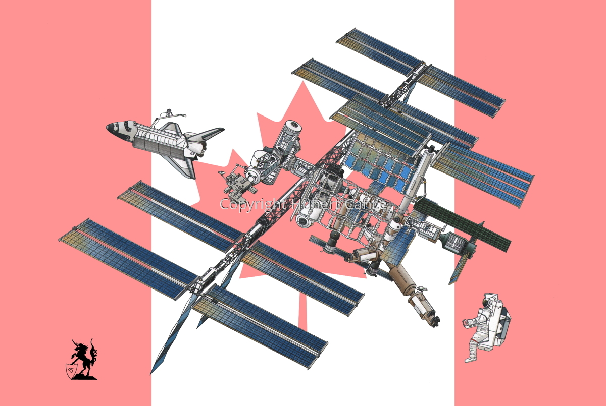 International Space Station (Flag #3) (large view)