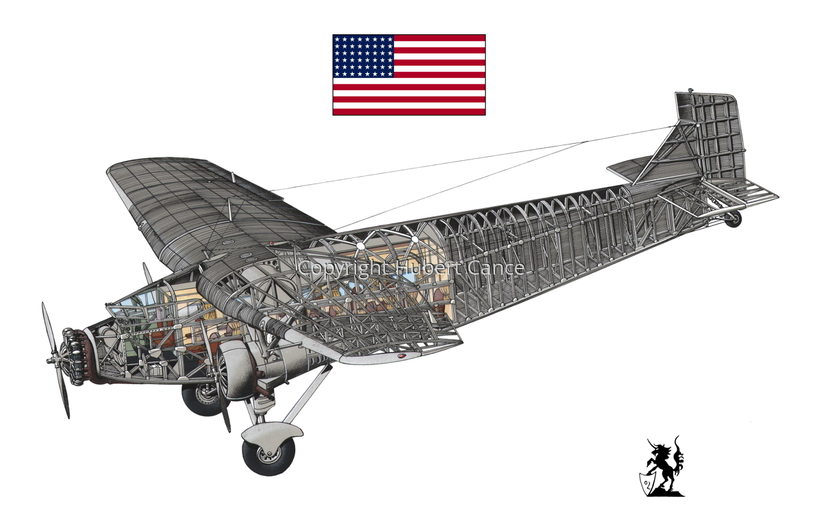 "Ford 5-AT-B ""Trimotor"" (Flag #1.1) (large view)"