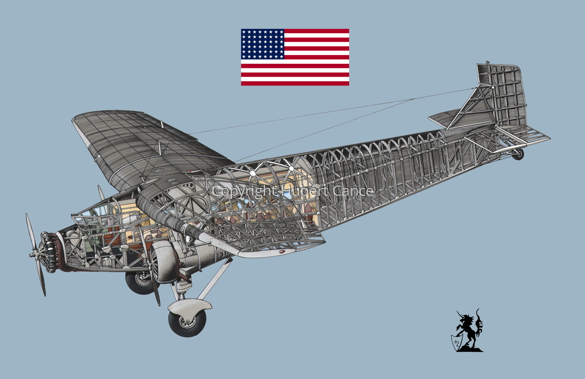 """Ford 5-AT-B """"Trimotor"""" (Flag #1.2) (large view)"""