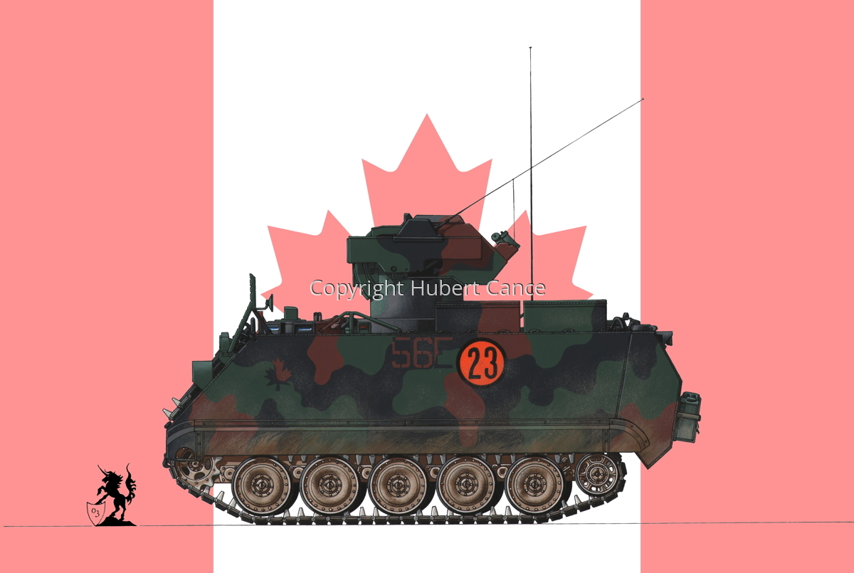 M113A2 TUA (Tow Under Armor) (Flag  #1) (large view)