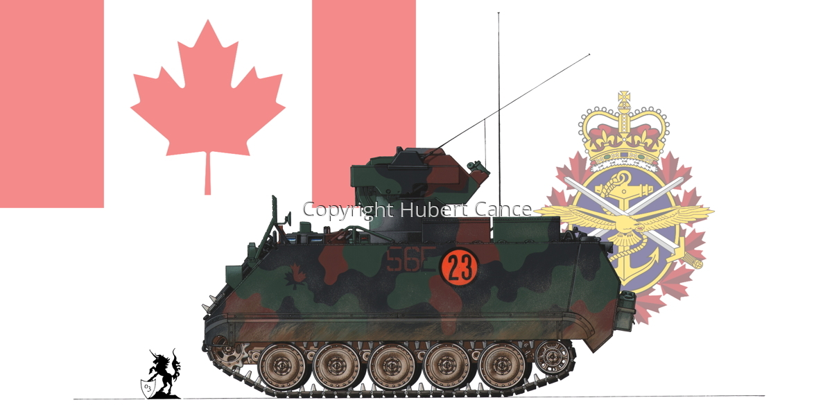 M113A2 TUA (Tow Under Armor) (Flag  #2) (large view)