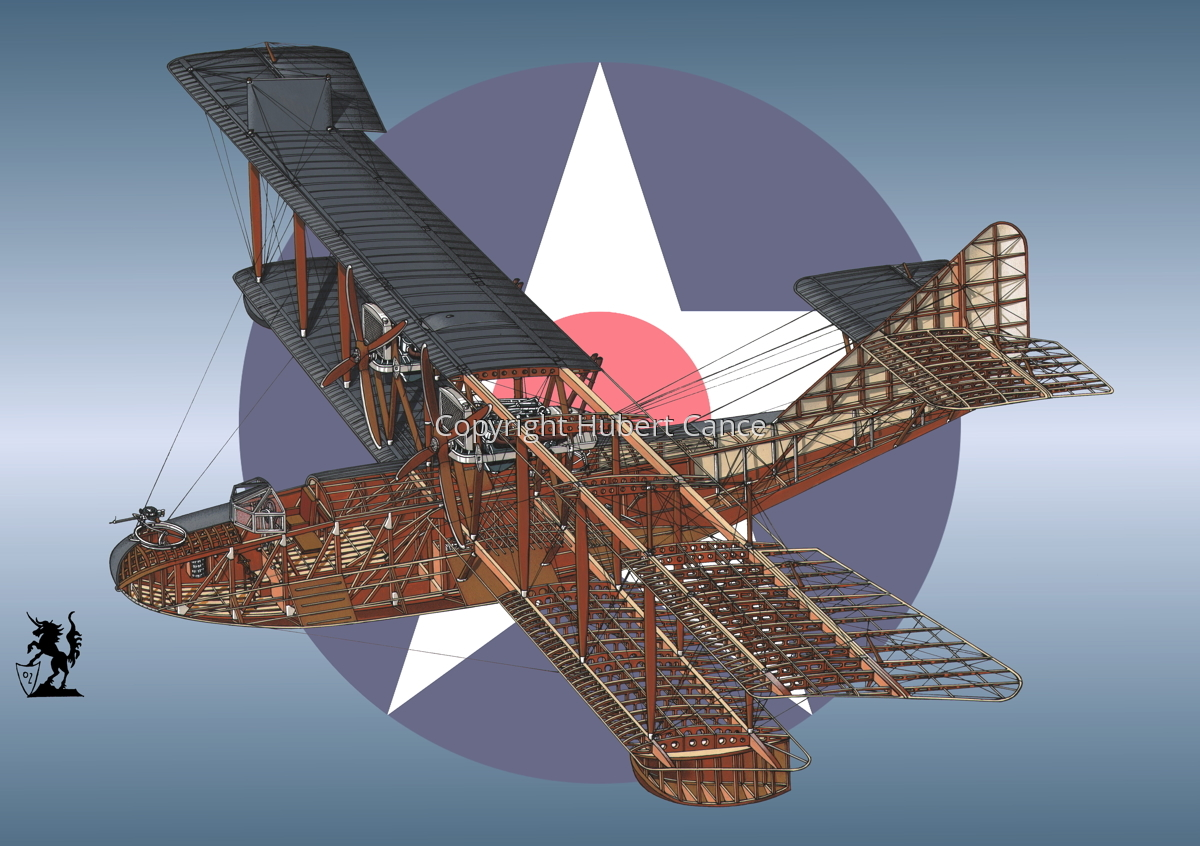 """Curtiss H16 """"Large America"""" (Roundel #3) (large view)"""