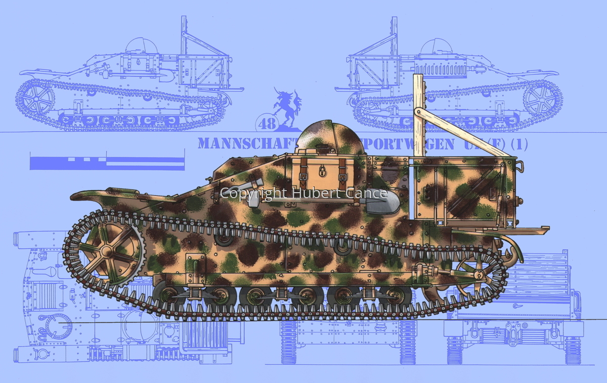 Mannschaftstransportwagen Renault UE(f) (Blueprint #1) (large view)