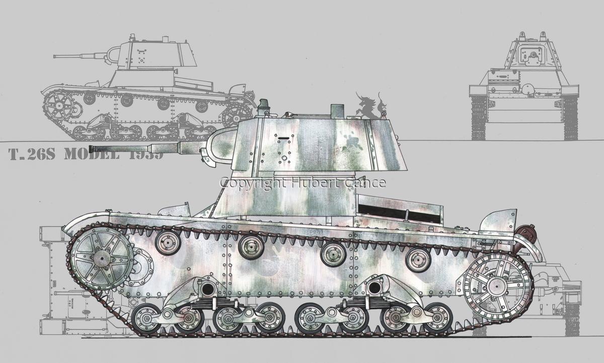 T-26S Model 1939 (Blueprint #3) (large view)