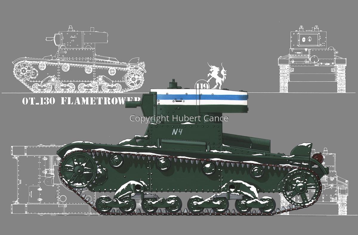 OT-130 Flamethrower Tank (Blueprint #4) (large view)