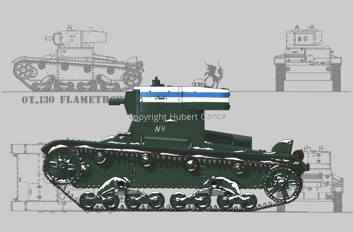 OT-130 Flamethrower Tank (Blueprint #3) (large view)