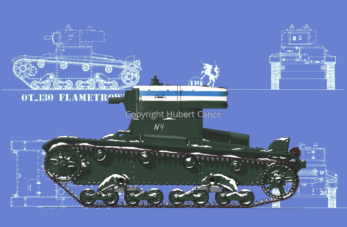OT-130 Flamethrower Tank (Blueprint #2) (large view)