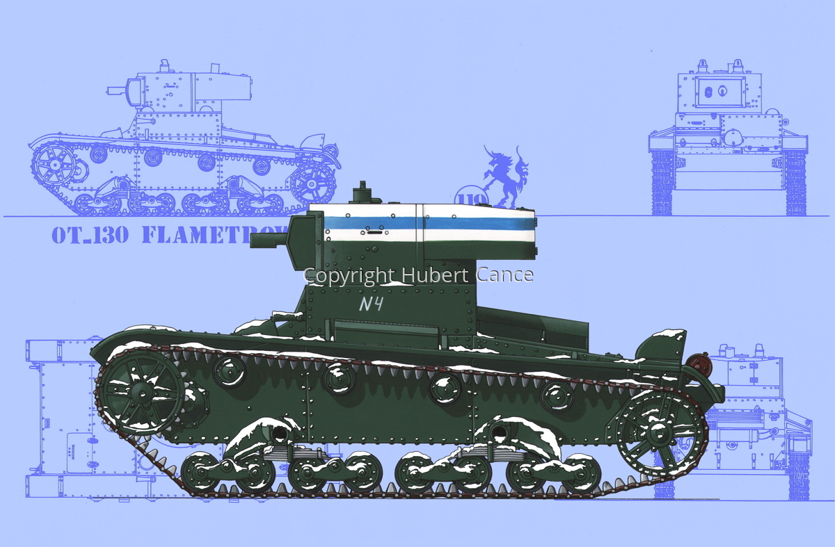 OT-130 Flamethrower Tank (Blueprint #1) (large view)