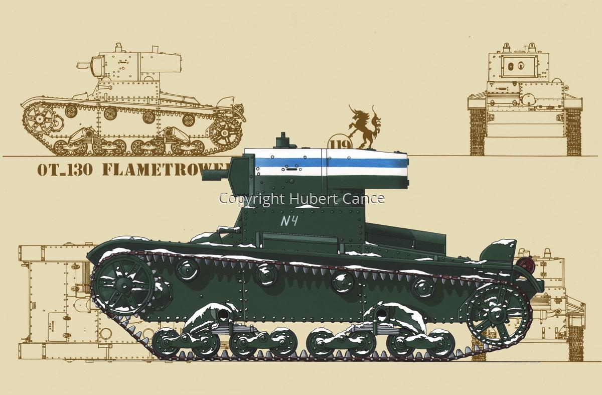 OT-130 Flamethrower Tank (Blueprint #5) (large view)