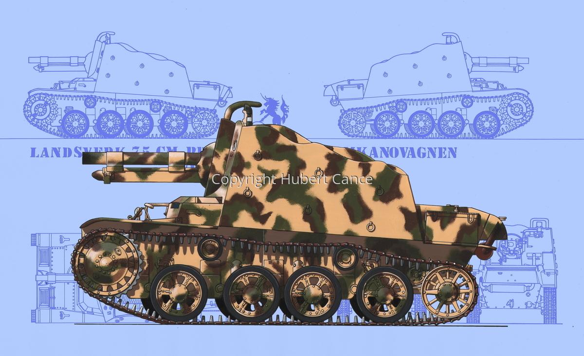 Landsverk 7,5 cm Provisorisk Stormkanonvagnen (Prototype) (Blueprint #1) (large view)