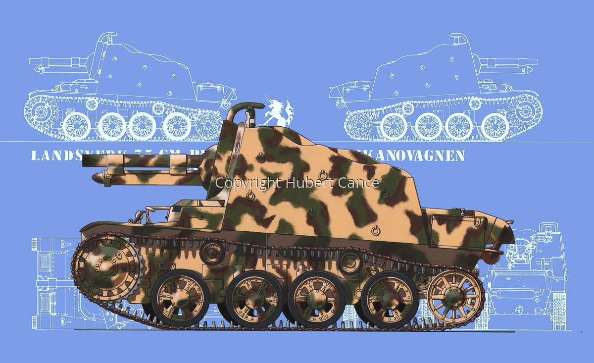 Landsverk 7,5 cm Provisorisk Stormkanonvagnen (Prototype) (Blueprint #2) (large view)
