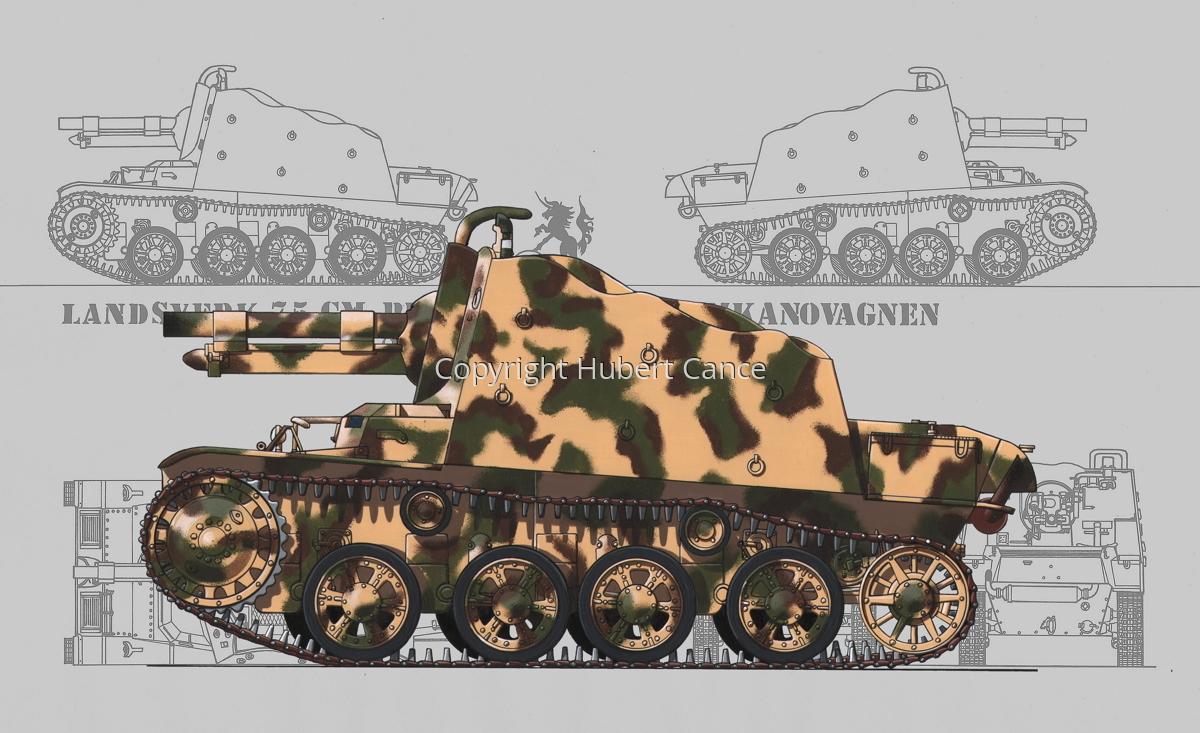 Landsverk 7,5 cm Provisorisk Stormkanonvagnen (Prototype) (Blueprint #3) (large view)