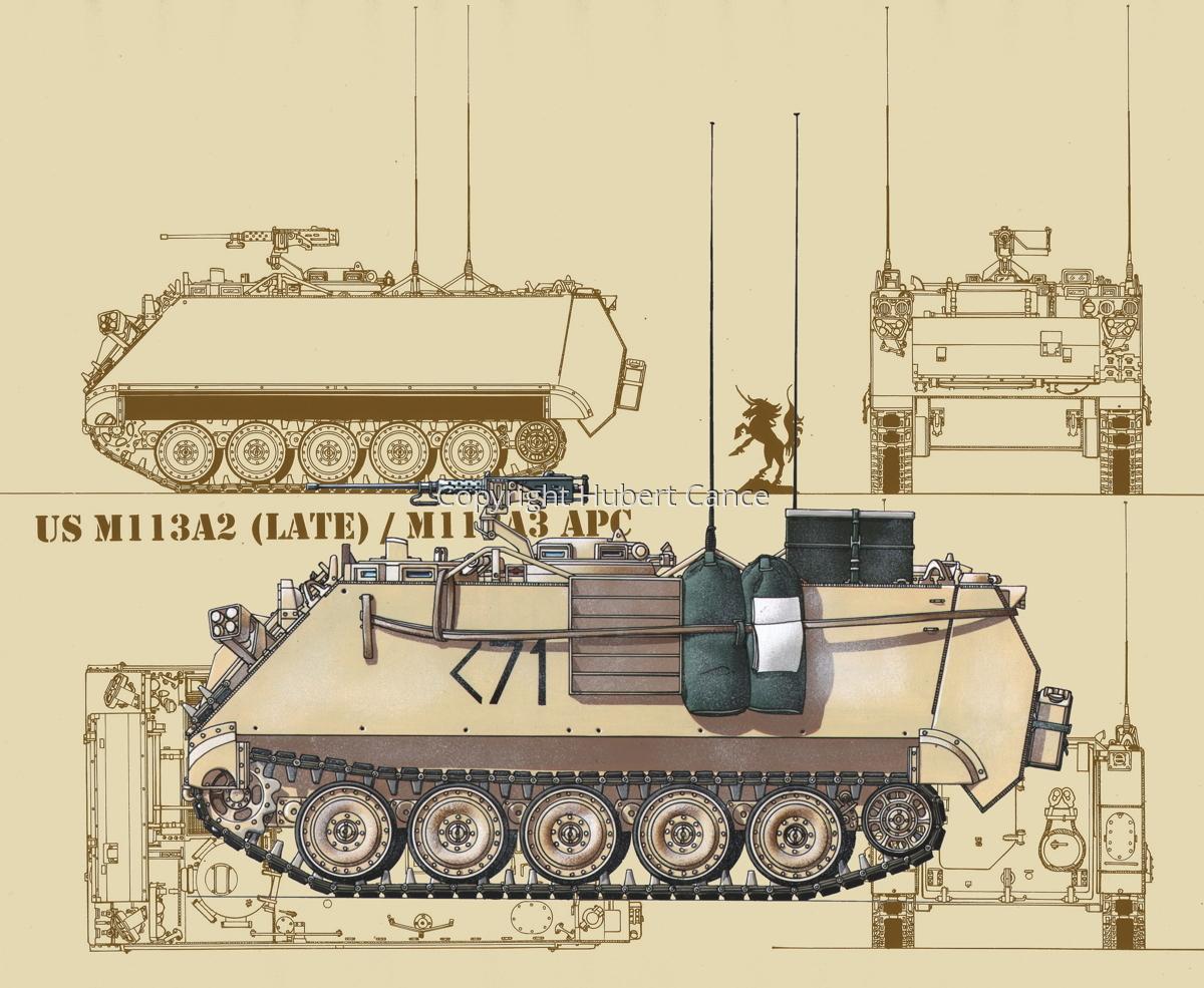 M113A3 (Blueprint #5) (large view)