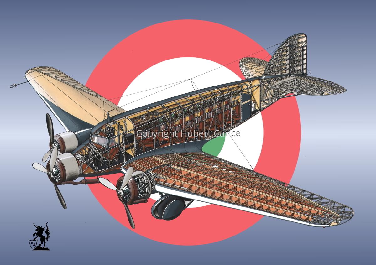 Savoia Marchetti SM-73 (Roundel #6) (large view)